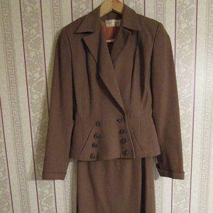 Vintage Brown Skirt Suit Joseph Horne Co. Pittsbur